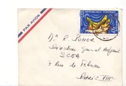 CAMEROUN :   Lettre Par Avion Pour La France - Banane - Cameroun (1960-...)