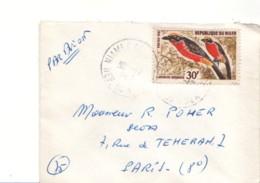 NIGER :  1968 - Lettre Par Avion Pour La France - Oiseaux - - Niger (1960-...)