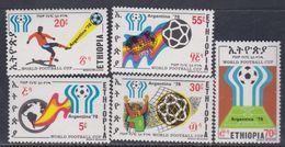 """Ethiopie N° 889 / 93 XX """"Argentina' 78"""", Coupe Du Monde De Football, Les 5 Valeurs Sans Charnière, TB - Ethiopie"""
