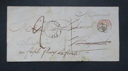 Lettre Avec Texte Gournay En Bray Pour Fleury La Foret 1844 - Marcophilie (Lettres)