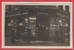 COMMERCE --  CARTE PHOTO - RARE - Chaussures Raoul - Paris Ou Banlieue - Magasins