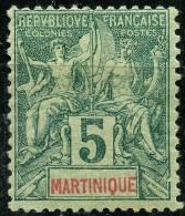 Martinique (1892) N 34 * (charniere) - Martinique (1886-1947)