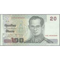TWN - THAILAND 109j - 20 Baht 2003 Prefix 6 E UNC - Thailand