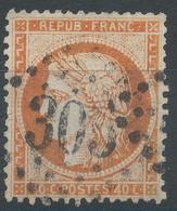 Lot N°47005  Variété/n°38, Oblit GC 305 Bar-le-Duc, Meuse (53), Filet EST - 1870 Siege Of Paris
