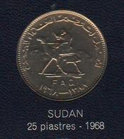 FAO 25 Piastres Ghirsh 1968  Sudan - Bahreïn