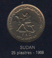 FAO 25 Piastres Ghirsh 1968  Sudan - Bahrain