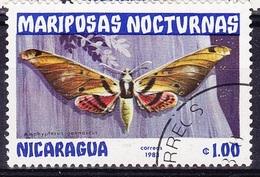 """Papillon """"Adhemarius Gannascus"""" (Insecte) - Nicaragua - 1983 - Nigeria (1961-...)"""