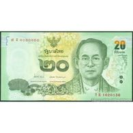 TWN - THAILAND 118a - 20 Baht 2013 Prefix 7 E UNC - Tailandia