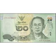 TWN - THAILAND 118a - 20 Baht 2013 Prefix 8 F UNC - Thaïlande