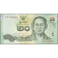 TWN - THAILAND 118b - 20 Baht 2015 Prefix 2 B UNC - Thaïlande