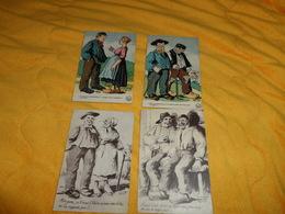 LOT DE 4 CARTES POSTALES ANCIENNES NON ET CIRCULEES DATE ?.../ ILLUSTRATEUR GRIFF...AVOIR L'AIR IDIOT... - Griff
