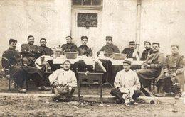 CARTE PHOTO  LE RUCHARD POPOTE DES OFFICIERS 24 MARS 1909 - Régiments