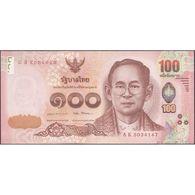TWN - THAILAND 132 - 100 Baht 2017 Prefix 8 K UNC - Thaïlande