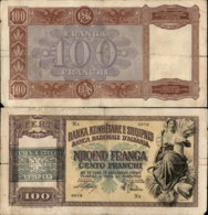 ALBANIA 100 FRANCHI ND - Albania