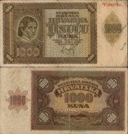 CROATIA-NDH 1000 KUNA 1941 - Croatie