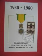 Carte Maximum 1952 N° 927 Cachet La Flotte - Cartes-Maximum