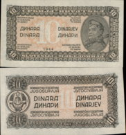 YUGOSLAVIA 10 DINARA 1944 UNC - Yougoslavie
