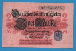 DEUTSCHES REICH 2 Mark 12.08.1914No 48.349235 P# 55 DARLEHENSKASSENSCHEINE - [ 2] 1871-1918 : German Empire