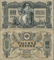 RUSSIA 1000 RUBLE 1919 - Russland