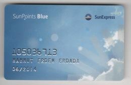 SUNEXPRESS AIRLINES SUN POINTS BLUE  CARD (USED) 2014 - Cartes Cadeaux