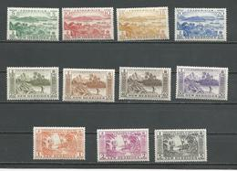 NOUVELLES HEBRIDES Scott A82-A92 Yvert 186-196 (11) **  32,00 $ 1957 - Légende Anglaise
