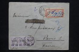 PORTUGAL - Enveloppe En Recommandé De Cortes Pour La France En 1929 , Affranchissement Plaisant - L 25656 - 1910-... République