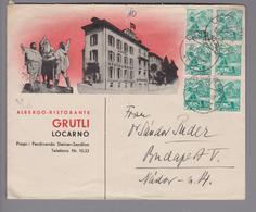 Motiv Hotel Albergo Gütli Lugano Decco-Brief 1937-09-13 - Hôtellerie - Horeca