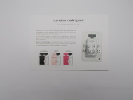 CARTE PARFUMEE :PURE MUSC DE NARCISO RODRIGUEZ - Modern (from 1961)
