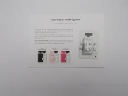 CARTE PARFUMEE :PURE MUSC DE NARCISO RODRIGUEZ - Modernes (à Partir De 1961)
