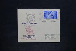 ROYAUME UNI - Enveloppe 1er Vol Par Hélicoptère Peterborough / Great Yarmouth En 1948 - L 25657 - Postmark Collection