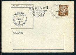 """Deutsches Reich / 1938 / Masch.-Stempel Muenchen """"Am 10. April Dem Fuehrer Dein Ja"""" A. Karte, Weiterer Stempel (10836) - Germany"""