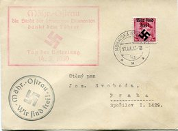 BOHEME ET MORAVIE (LOKALAUSGABEN MAHRISCH-OSTRAU) LETTRE DEPART MORAVSKA-OSTRAU 17 III 39 POUR LA TCHECOSLOVAQUIE - Bohemia & Moravia