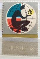 Vintage  Stamp    BRUSSELLES 58 - Erinnofilia