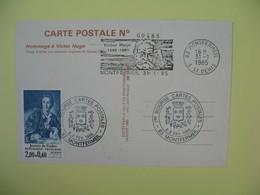 Carte Postale N° 00488 - 1985  Hommage à Victor Hugo  Cachet Montfermeil  Voir Le Dos - Ecrivains