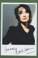 JEANNE BALIBAR  AUTOGRAPHE / AUTOGRAMM  In Person Signed Glossy Photo 13/18 Cm - Autographs