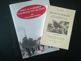 BOEREN EN BURGERS SOCIALE GESCHIEDENIS + OOST VLAANDEREN VAN RONSE TOT DE PINTE  2 BOEKEN RÉGIONALISME BELGIQUE BELGIË - Storia