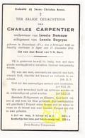 DP Im. Pieuse - Charles Carpentier ° Rosendaël Dunkerque FR Nord 1868 † Ieper BE 1944 X L. Demauw Xx L. Degryse - Santini