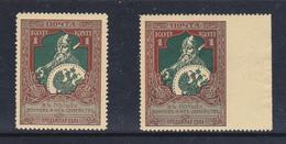 Russia 1914  Nuovo Beneficienza  N°93  Bordo Di Foglio   Non Dent.a Dx  MNH** - 1857-1916 Impero