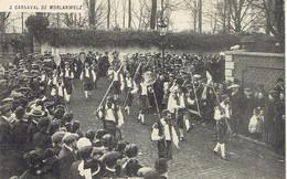 Rare - Carnaval De Morlanwelz 1914 Cortège Du Feureu Défilé D'une Société De Fantaisie - Morlanwelz