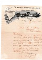 26-J.Miguet..Scierie Hydraulique, Bois De Charpente...Saint-Uze....(Drôme)...1922 - France