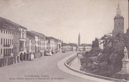 CASTELFRANCO VENETO CORSO VITTORIO EMANUELE E MONUMENTO AL GIORGIONE  AUTENTICA 100% - Treviso