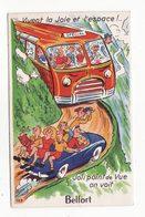90  BELFORT   Carte à Système Avec Dépliant 10 Vues     Bus, Automobile - Belfort - Ville