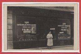 COMMERCE --  CARTE PHOTO - RARE - Magasins - Primistère Parisien - Magasins