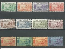 NOUVELLES HEBRIDES Scott A50-A61 Yvert 112-123 (12) *  500,00 $ 1938 - Légende Anglaise