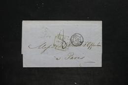 """FRANCE - Cachet D 'entré """" Angl. 2 - Calais AM.1 """" Sur Lettre Du Royaume Uni En 1853 - L 25664 - Marques D'entrées"""