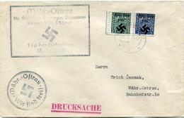 BOHEME ET MORAVIE (LOKALAUSGABEN MAHRISCH-OSTRAU) LETTRE DEPART MORAVSKA-OSTRAU 24 III 39 - Bohemia & Moravia