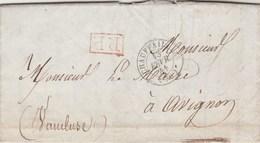 Lettre Entête Maire De CHAUFFAILLES Saône Et Loire 13/2/1841 Cachet PP Port Payé Pour Maire D' Avignon Vaucluse - Postmark Collection (Covers)