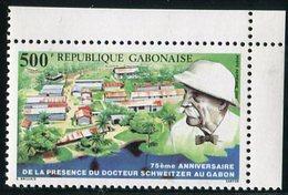 """GABON  1988  MNH  - """" 75e ANNIVERSAIRE DE LA PRESENCE DU DOCTEUR SCHWEITZER Au GABON """"  -  1  VAL - Gabon (1960-...)"""