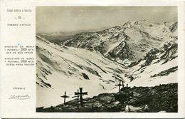 """SANTUARIO DE NURIA Y PUIGMAL 2909 MTS. DESDE """"NOU CREUS"""". ESPAÑA / SPAIN. POSTAL CPA CIRCA 1900's CIRCULE - LILHU - Gerona"""