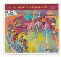 United Nations Geneve 1996 Sport And Environment Souvenir Sheet MNH/** (H45) - Genf - Büro Der Vereinten Nationen